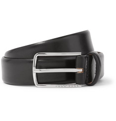 Hugo Boss 3cm Black Leather Belt