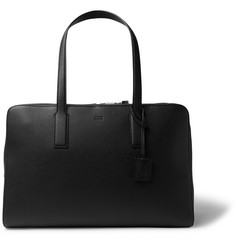 Hugo Boss Crosstown Full-Grain Leather Holdall