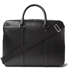 Hugo Boss Signature Cross-Grain Leather Briefcase