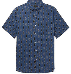 J.Crew Button-Down Collar Printed Linen and Cotton-Blend Shirt