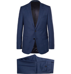 Hugo Boss Blue Novan/Ben Slim-Fit Mélange Super 120s Virgin Wool Suit