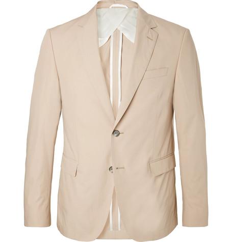 b6f91b73 Hugo Boss - Beige Nobis Slim-Fit Cotton-Poplin Suit Jacket