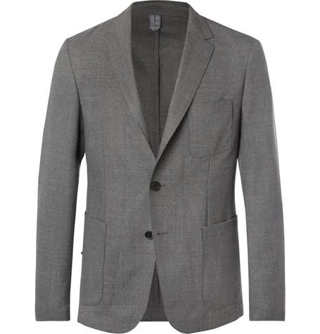 e34228be3 Hugo Boss Grey Noswen Slim-Fit Virgin Wool Blazer - Gray | ModeSens