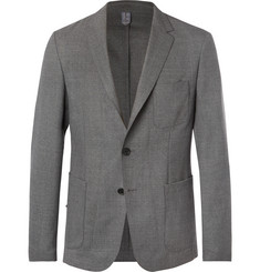 Hugo Boss Grey Noswen Slim-Fit Virgin Wool Blazer