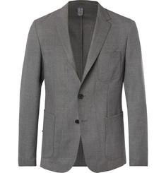 Hugo Boss Grey Noswen Slim-Fit Virgin Wool Blazer,Gray