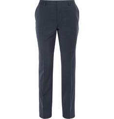 Hugo Boss - Blue Genesis Slim-Fit Virgin Wool and Cashmere-Blend Trousers