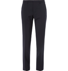 Hugo Boss Navy Genesis Slim-Fit Wool and Cashmere-Blend Suit Trousers