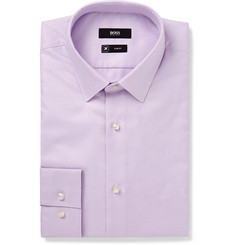 Hugo Boss - Lilac Isko Slim-Fit Cotton-Jacquard Shirt