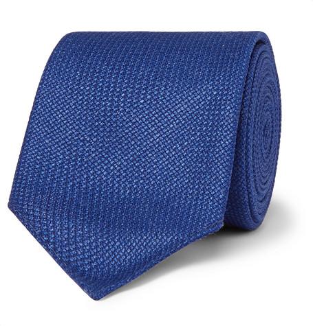 6cm Virgin Wool And Linen-blend Tie HUGO BOSS 1L8MjBSRAb