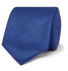 Hugo Boss - 6cm Virgin Wool, Silk and Linen-Blend Tie