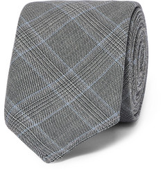 Hugo Boss 6cm Prince of Wales Checked Virgin Wool Tie