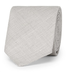 Hugo Boss 6cm Virgin Wool and Linen-Blend Tie
