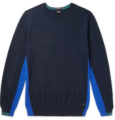 Hugo Boss - Tanello Colour-Block Cotton Sweater