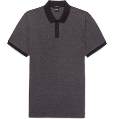 Hugo Boss Parley Mélange Textured-Cotton Polo Shirt