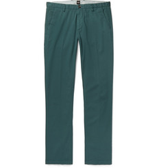 Hugo Boss - Slim-Fit Stretch-Cotton Twill Trousers