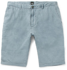 Hugo Boss Rigan Garment-Dyed Linen Shorts