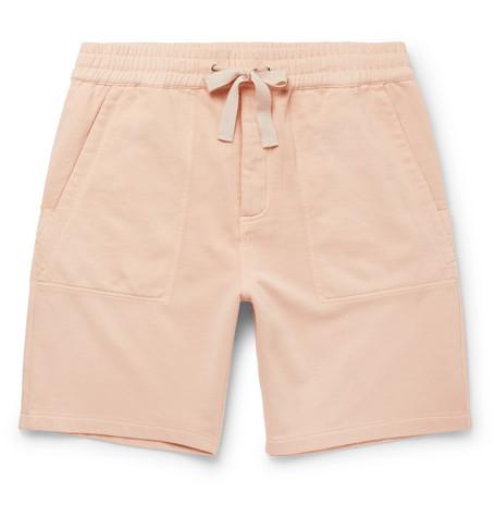 Sigma Wide-leg Loopback Cotton-jersey Drawstring Shorts
