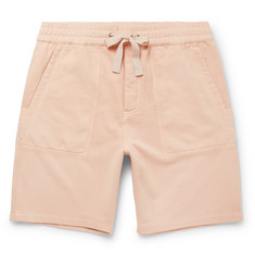 Folk Sigma Wide-Leg Loopback Cotton-Jersey Drawstring Shorts