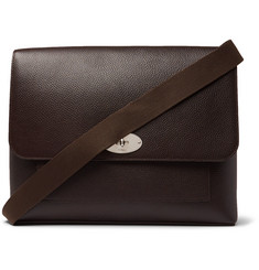 Mulberry - East West Anthony Padlock Pebble-Grain Leather Messenger Bag