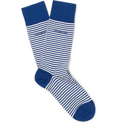 Hugo Boss Striped Stretch-Cotton Socks