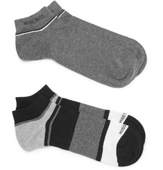 Hugo Boss - Two-Pack Stretch Cotton-Blend Socks