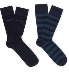 Hugo Boss Two-Pack Stretch-Cotton Blend Socks