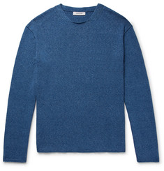 Indigo Dyed Mélange Cotton Sweater by Nonnative