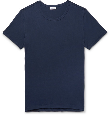 Lorenz Slim Fit Stretch Cotton And Modal Blend T Shirt by Schiesser