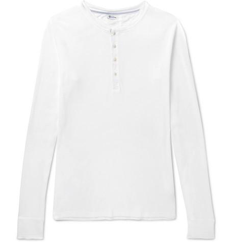 SCHIESSER Karl Heinz Cotton-Jersey Henley T-Shirt