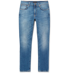 Nudie Jeans Lean Dean Skinny-Fit Organic Stretch-Denim Jeans