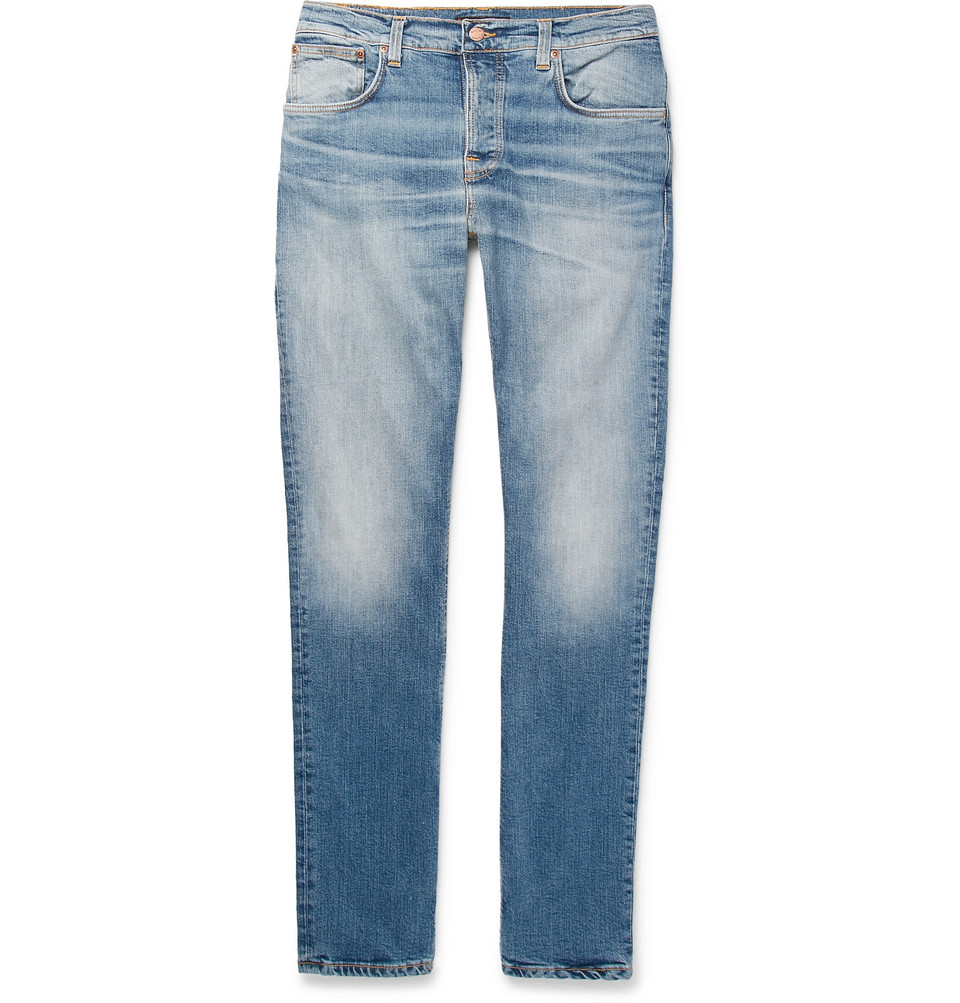 Bild på Grim Tim Slim-fit Organic Stretch-denim Jeans - Blue