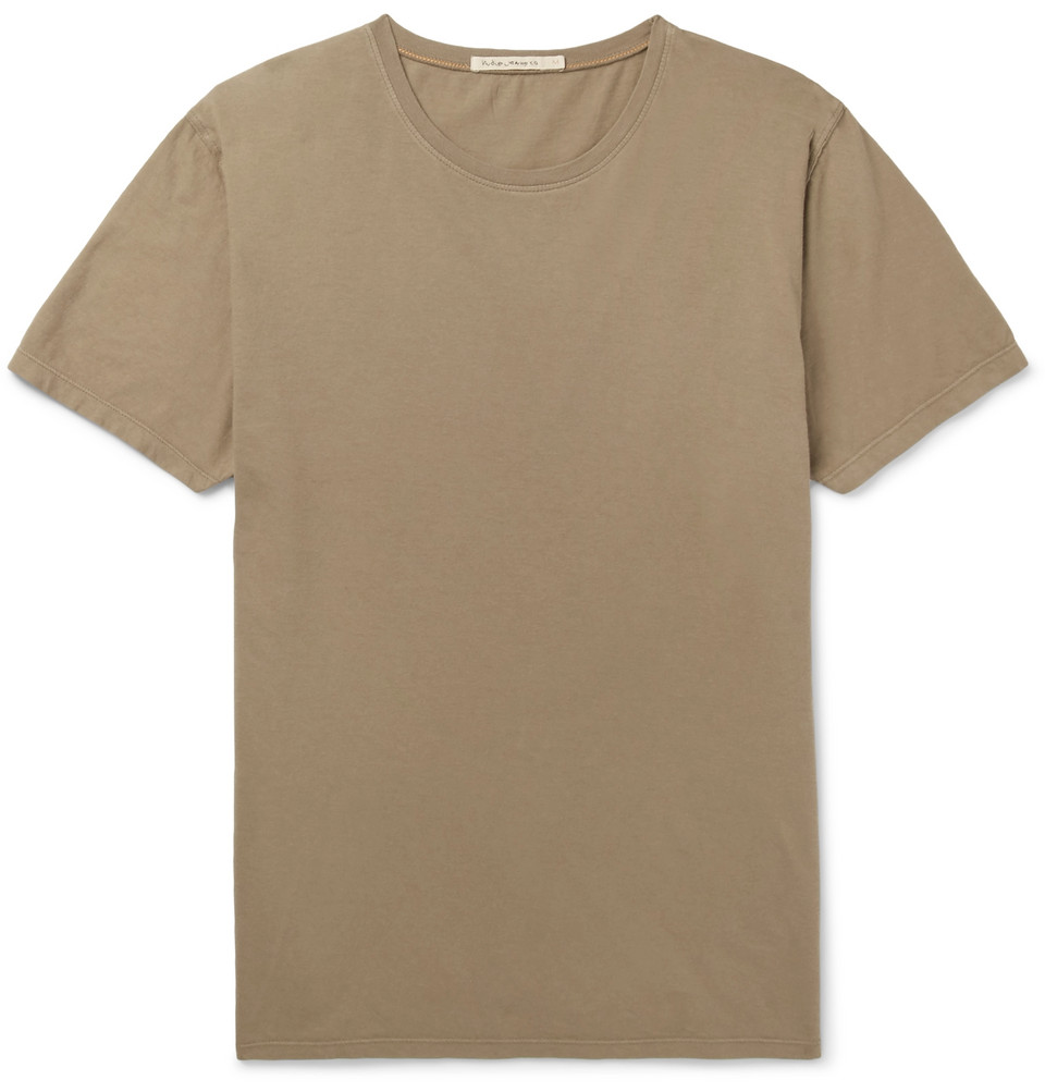 Bild på Anders Slub Organic Cotton-jersey T-shirt - Green