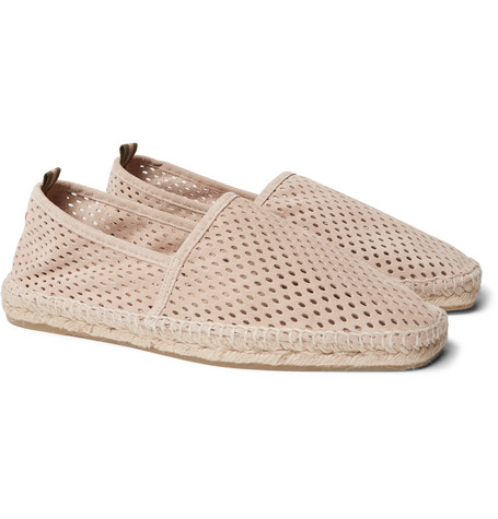 Pablo Perforated Suede Espadrilles by Castañer