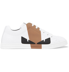 Fendi Printed Leather Sneakers