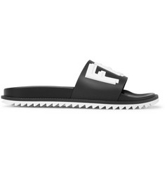 Fendi Logo-Print Rubber Slides
