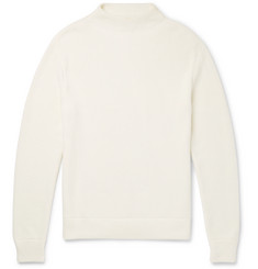 Mr P. Mock-Neck Ribbed Cotton Sweater