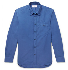 Mr P. Slim-Fit Garment-Dyed Cotton-Poplin Shirt