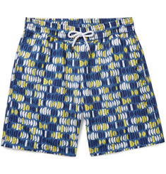 Frescobol Carioca Aquarela Long-Length Printed Swim Shorts