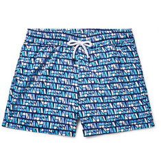 Frescobol Carioca Bossa Short-Length Printed Swim Shorts