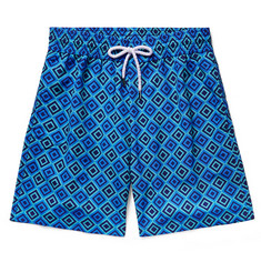 Frescobol Carioca Angra Long-Length Printed Swim Shorts