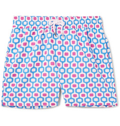 Frescobol Carioca Ipanema Slim-Fit Long-Length Printed Swim Shorts