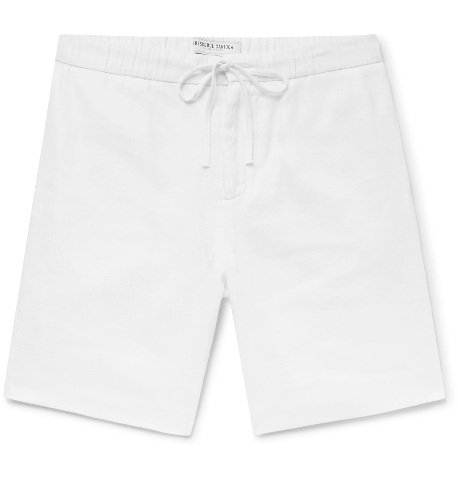 Linen And Cotton-blend Shorts Frescobol Carioca Amazing Price Cheap Price oWtdnDXRV