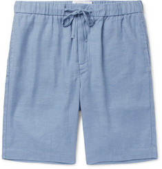 Frescobol Carioca Slim-Fit Linen and Cotton-Blend Drawstring Shorts