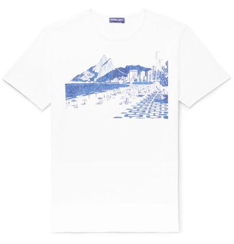 FRESCOBOL CARIOCA + Paulo Mariotti Ipanema  Printed Cotton-Jersey T-Shirt