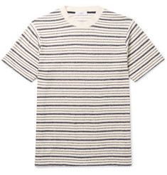 Mr P. - Bouclé-Striped Cotton-Blend Jersey T-Shirt