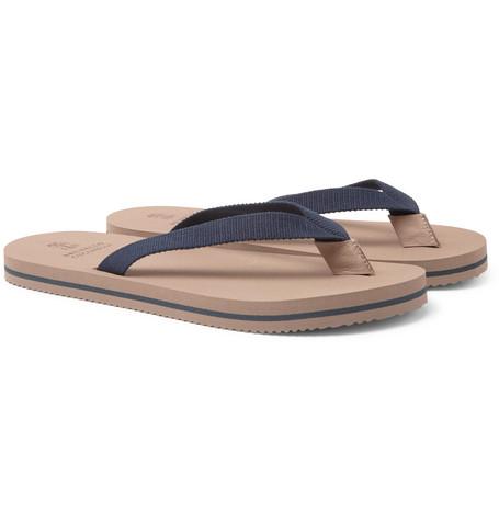 Cotton-canvas Flip Flops - NavyBrunello Cucinelli VJa7MWHQ