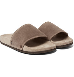 Brunello Cucinelli Textured-Suede Slides