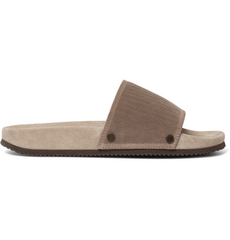 free shipping best prices Brunello Cucinelli Textured-Suede Slides buy cheap pictures reliable cheap price kqbYV