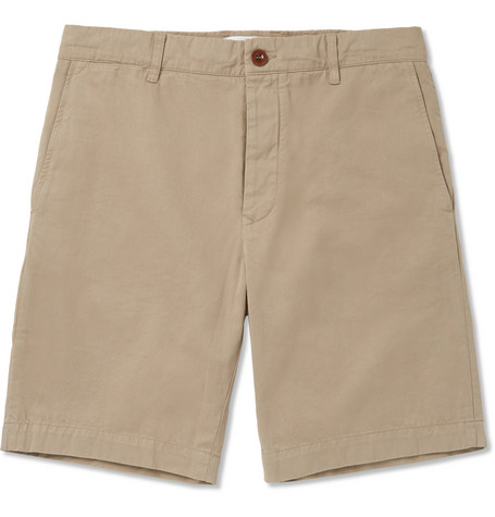 Mr P. Garment-dyed Cotton-twill Bermuda Shorts - Sand ljVeHwg6MS