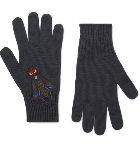 Bag Bugs Appliquéd Wool Gloves